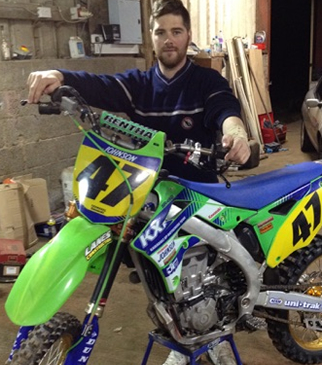 Motocross accident leaves Robbie off work for months